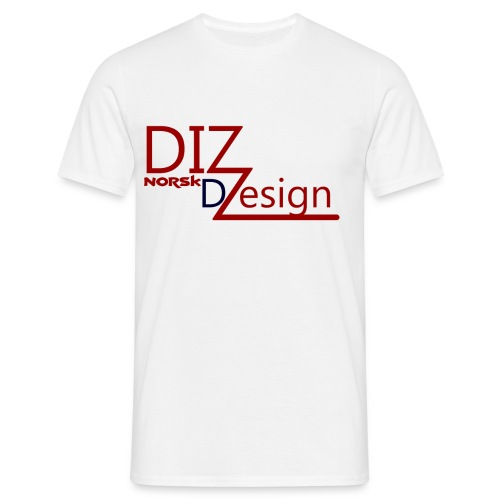 DIZ design logo - T-skjorte for menn