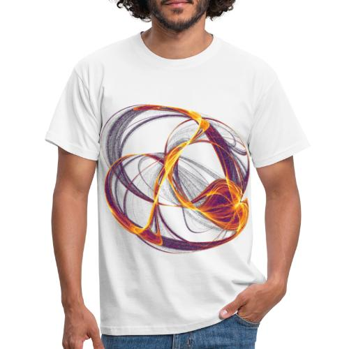 Watercolor art graphic painting image 13997 inferno - Men's T-Shirt