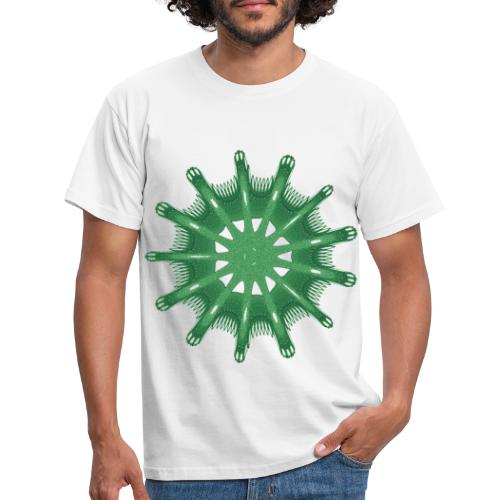 grünes Steuerrad Grüner Seestern 9376alg - Männer T-Shirt