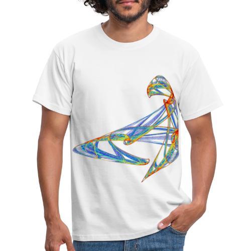 Fröhliches Farbenspiel 853 jet - Männer T-Shirt