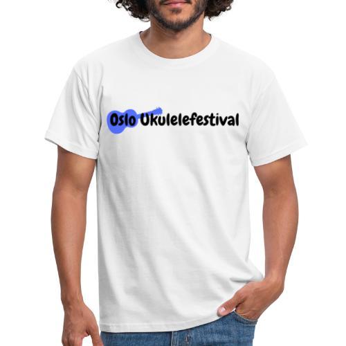 Oslo Ukulelefestival blå logo - T-skjorte for menn