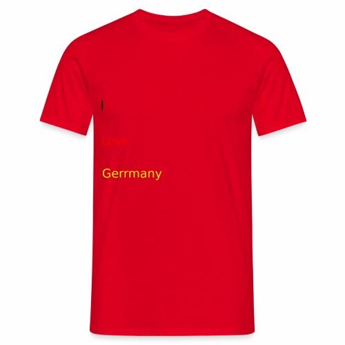 deutschland germany liebe love ich ego farbe - Männer T-Shirt