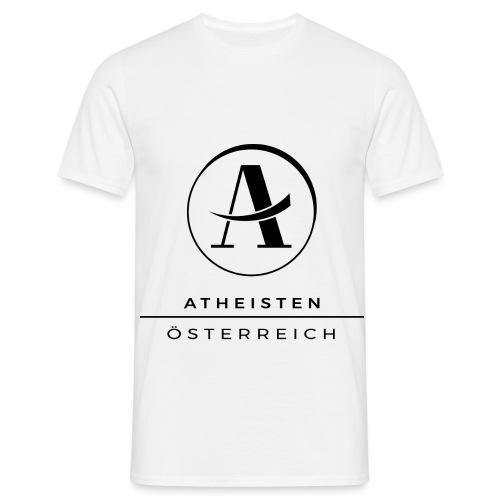 Atheisten Logo Schwarz - Männer T-Shirt