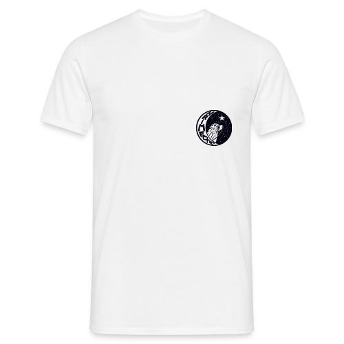 sort logo - Herre-T-shirt