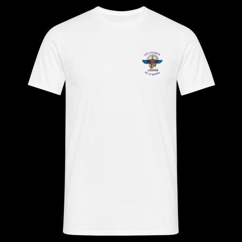ANCIENS2 logo texte bleu detoure BD png - T-shirt Homme