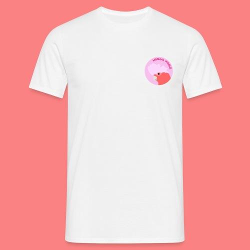 minimal world logo - Maglietta da uomo