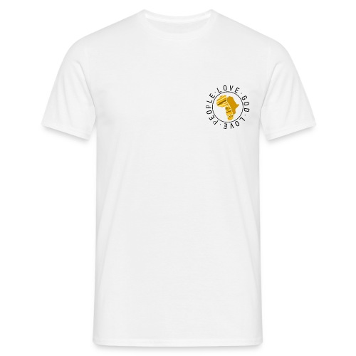 Africa circle chest white - Männer T-Shirt
