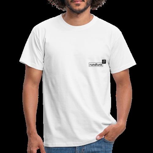 rundfunk17 Logo schwarz - Männer T-Shirt