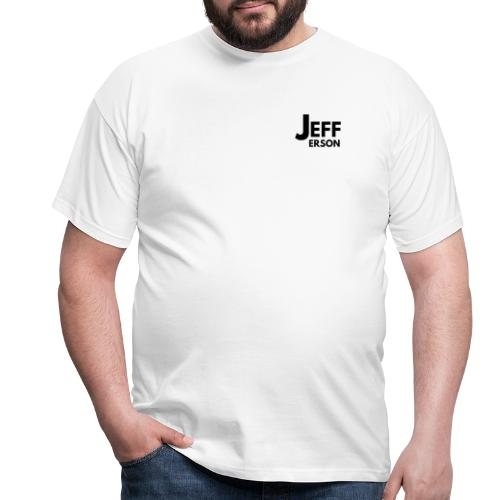 Jefferson logo klein (zwart) - Mannen T-shirt