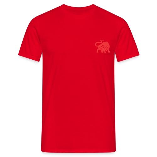 burger ranch bull logo vector png - Herre-T-shirt