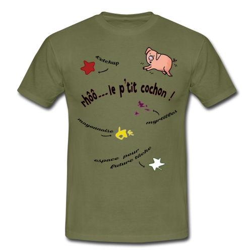 Rhoo le ptit cochon ! (version pour fond blanc) - T-shirt Homme