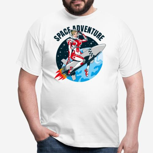 space adventure rocket girl - Männer T-Shirt