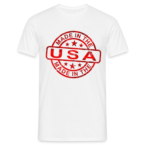 Made-in-the-USA-red - Camiseta hombre