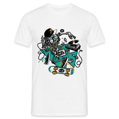 ROCKIN-SKULL-vert - T-shirt Homme