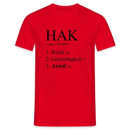 hak - Männer T-Shirt