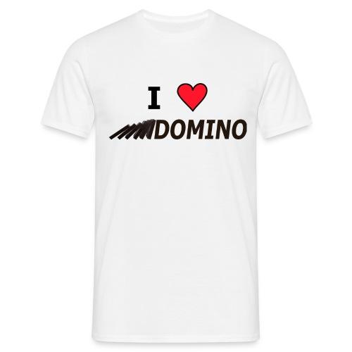 I love Domino - Männer T-Shirt