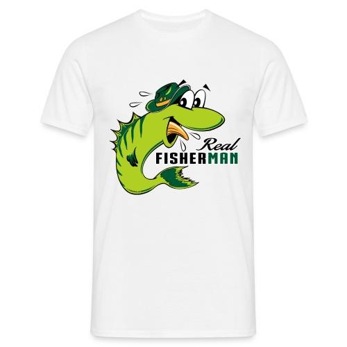 10-38 REAL FISHERMAN - TODELLINEN KALASTAJA - Miesten t-paita