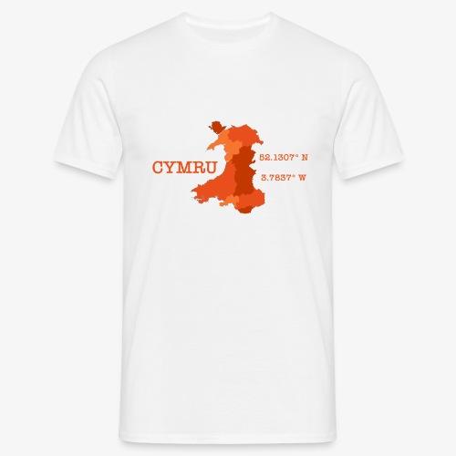 Cymru - Latitude / Longitude - Men's T-Shirt