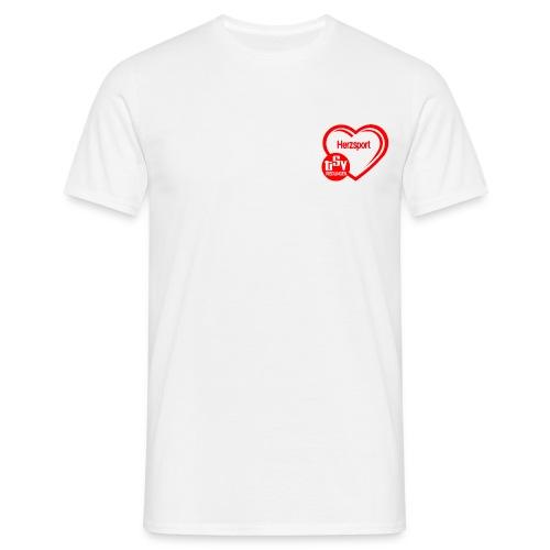 Herzsportlogo klein - Männer T-Shirt