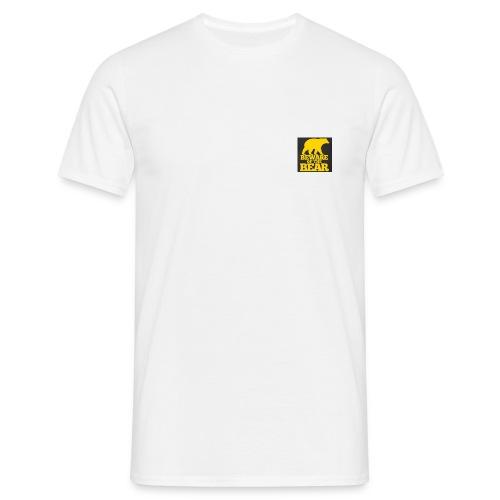 beware of the bear - Mannen T-shirt