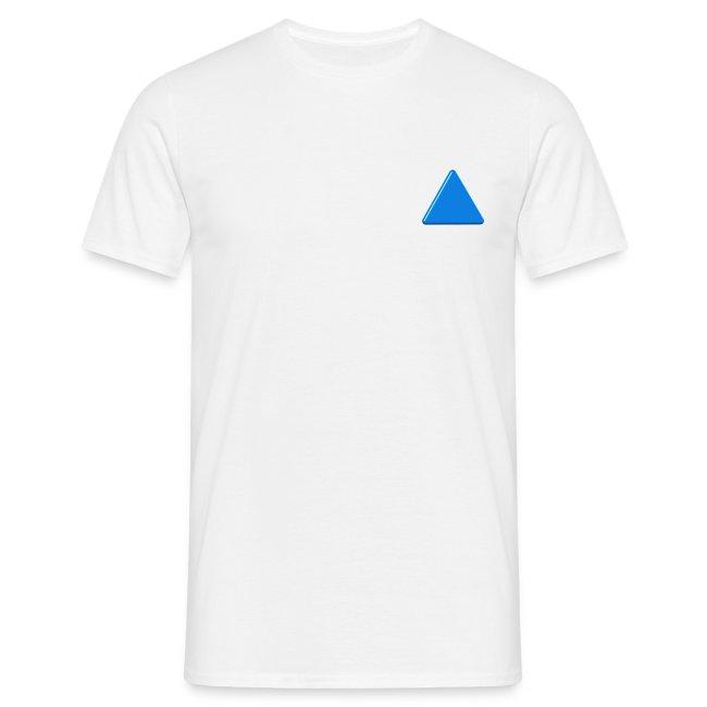 triangolo porta fortuna azzurro per uomo