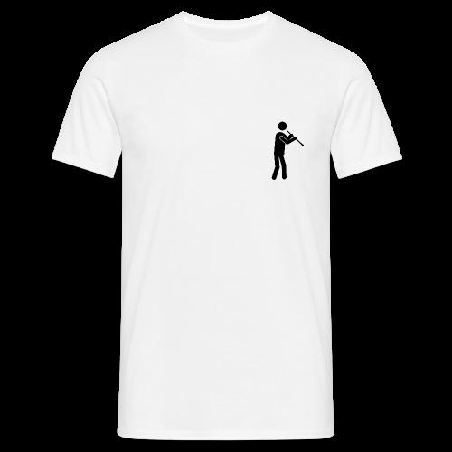 Oboist Piktogramm schwarz - Männer T-Shirt