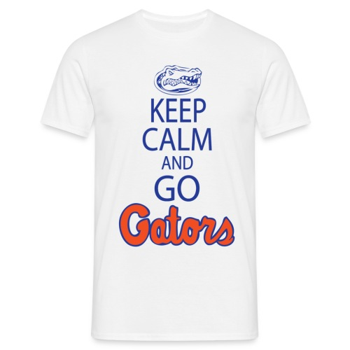 keepcalmnobackplainedithighresblue copy - Men's T-Shirt
