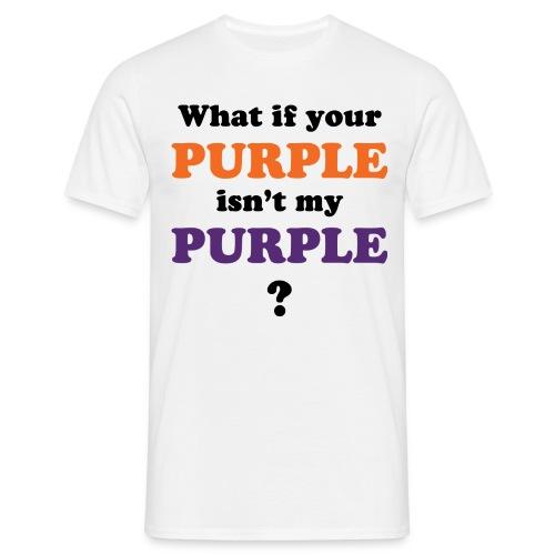 purple01 - Men's T-Shirt