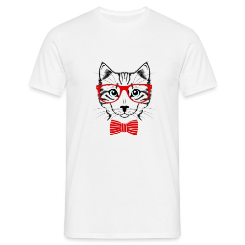 Hypster cat - Men's T-Shirt