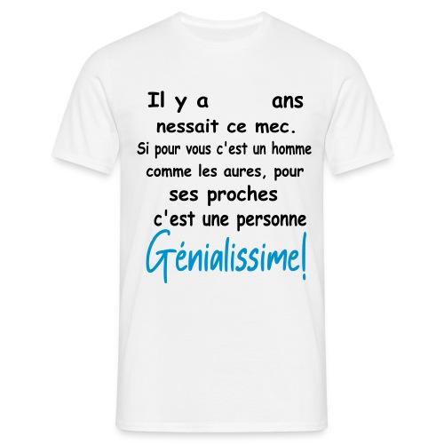 T-SHIRT PERSONNALISABLE/PERSONNALISER/ANNIVERSAIRE - T-shirt Homme