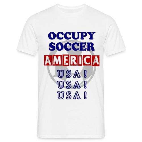 occupy soccer america - Men's T-Shirt