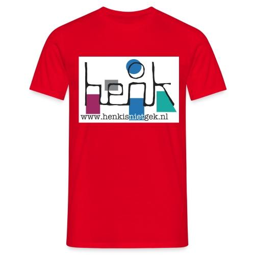 henkisnietgek-logo - Mannen T-shirt