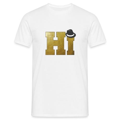 Drummer Design Hi + Hat - Men's T-Shirt