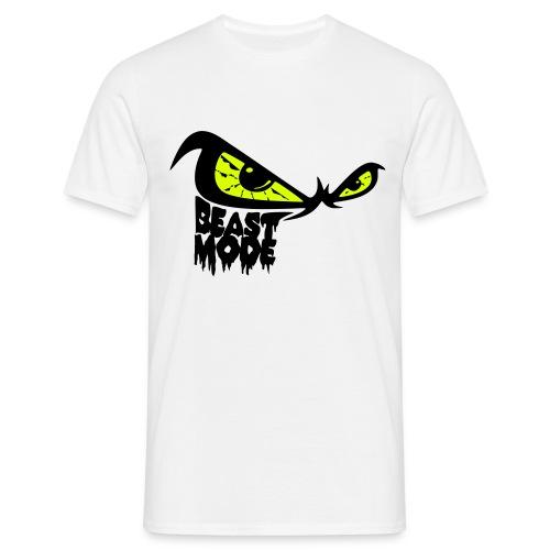 beast mode 3farbig auge gelb - Männer T-Shirt