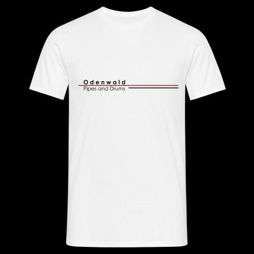 Odewald Pipes and Drums Logo weiß transparenter - Männer T-Shirt