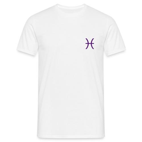 Pisces Zodiac Symbol - Men's T-Shirt