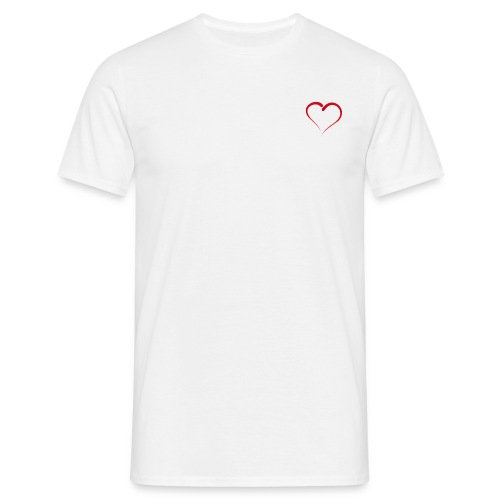 Premium Herz Design - Männer T-Shirt