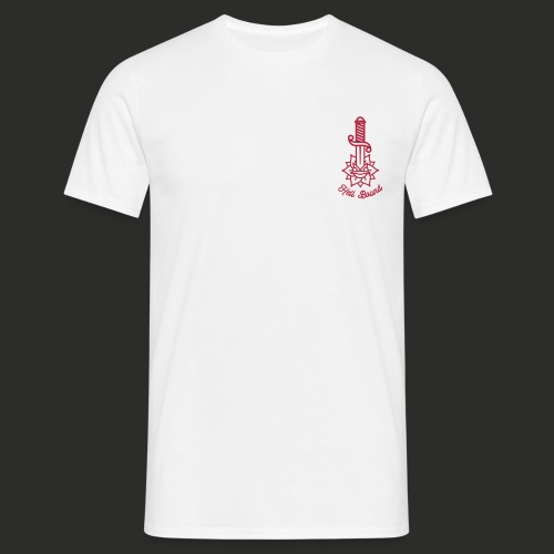DAGGER ROSE WHITE BACK - Men's T-Shirt