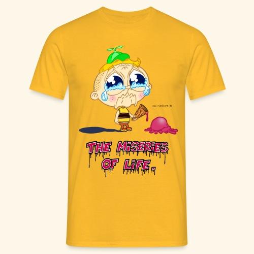 The Miseries of Life Eiscreme Eis Kind - Männer T-Shirt