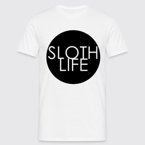 Sloth Life Logo trans bla - Men's T-Shirt