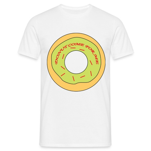 Donut Come For Me Red - Men's T-Shirt