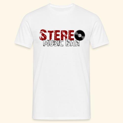 Stereo-Logo-Durchsichtig- - Männer T-Shirt