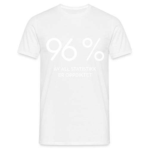 Statistikk-sprøyt (fra Det norske plagg) - T-skjorte for menn