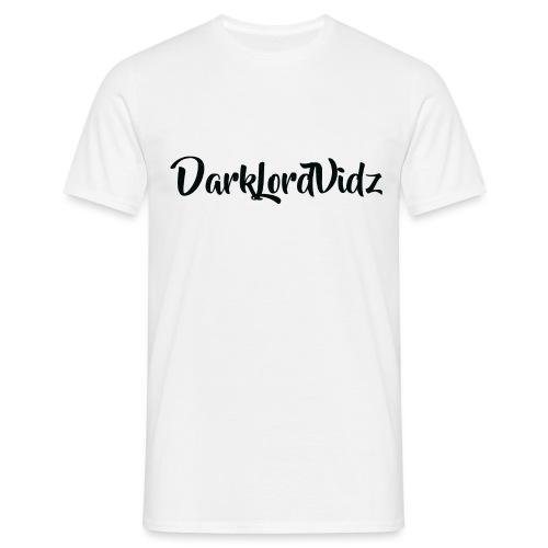 DarklordVidz Black Logo - Men's T-Shirt