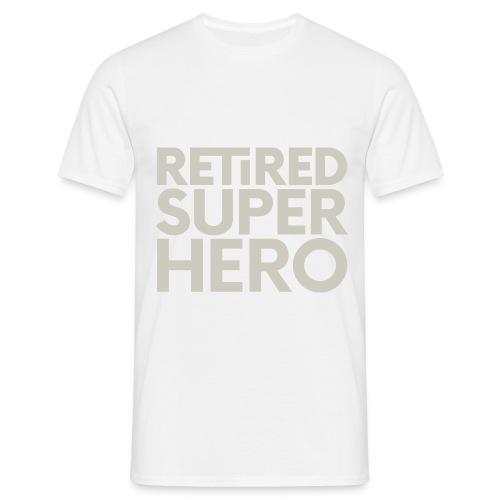 retired superhero - Men's T-Shirt