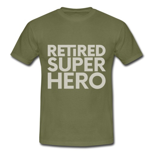retired superhero - Men's T-Shirt