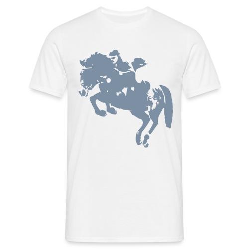 springreiter_pferd - Männer T-Shirt
