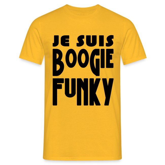 JE SUIS BOOGIE FUNKY ts white