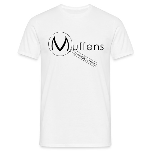 muffens media tshirt white - Men's T-Shirt