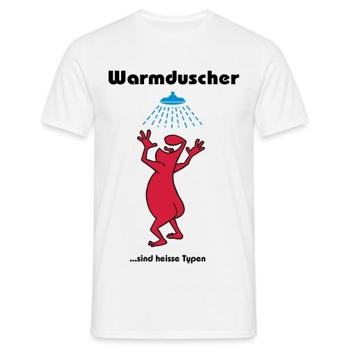 Warmduscher grün - Men's T-Shirt